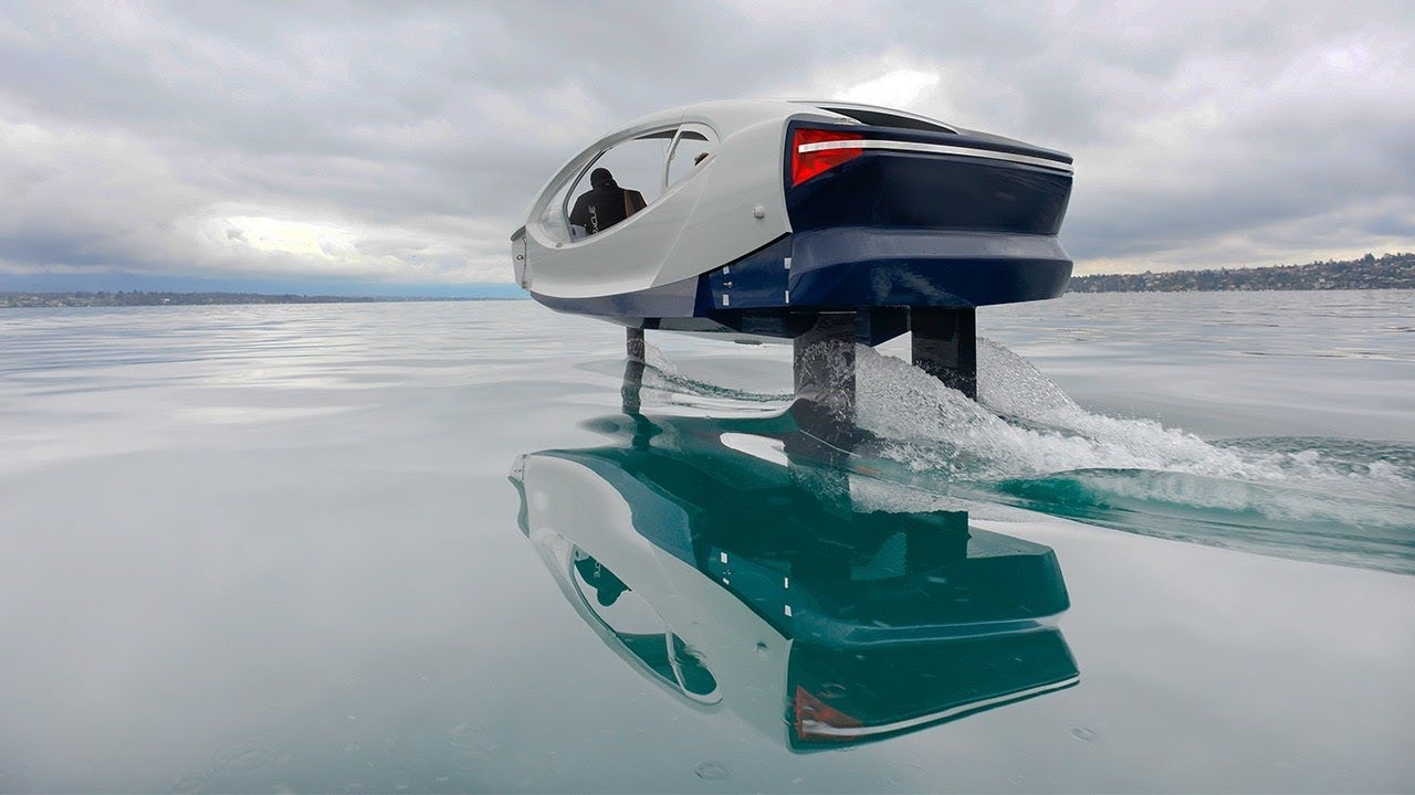 SeaBubbles testing the Fly By Wire control system - YouTube
