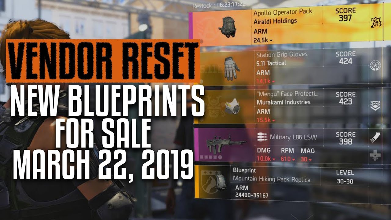 28 06 MB] The Division 2   Weekly Vendor Reset   March 22