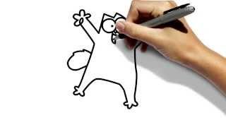 Как нарисовать Кота Саймона карандашом / маркером поэтапно(Как нарисовать Кота Саймона карандашом поэтапно., 2014-11-18T21:05:52.000Z)