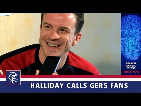 RENEW: Andy Halliday Calls Gers Fans To Thank Them