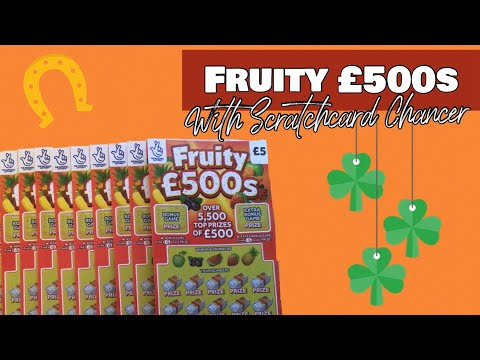 🍀 Fruity £500s 💰 National Lottery Uk 💰 £5 Scratch Cards Today 💰 With Scratchcard Chancer 🍀