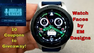Samsung Galaxy Watch/Gear Watch Faces by EM Designs - 10 Coupons to Giveaway! - Jibber Jab Reviews!