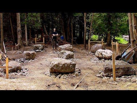 Log Cabin on a Budget- Ep 8- The Big Dig / Foundation
