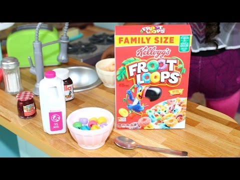 Doll Breakfast Cereal | DIY American Girl Doll Crafts