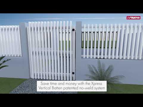 Xpress Vertical Batten Gates | Stratco Fencing Sanctuary