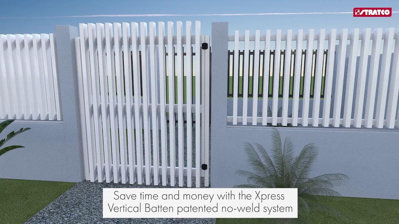 Xpress Vertical Batten Gates Stratco Fencing Sanctuary
