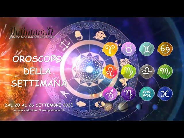 Oroscopo per la settimana dal 20 al 26 settembre 2021