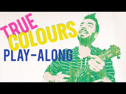 'True Colors' easy ukulele play-along / cover w/ chords - Cindy Lauper Phil Collins