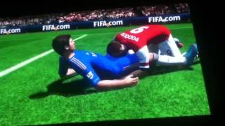 Guy gives head to player on FIFA 13