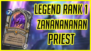Hearthstone | Legend Rank 1 Zananananan Galakrond Priest