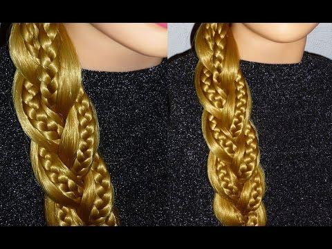 Плетение волос. Лёгкая причёска на каждый день самой себе.Оригинальное плетение косички из 3 прядей