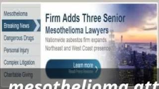 mesothelioma attorneys california