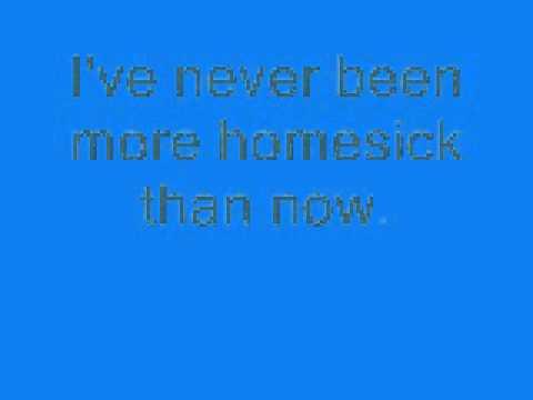 Mercy Me - Homesick. With Lyrics