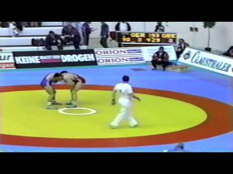 1991 European Greco Championships: 90 kg Maik Bullmann (GER) vs. Iordanis Konstantinidis (GRE)