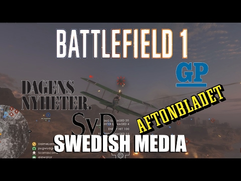 Battlefield 1 - Swedish media (Attack plane gameplay)
