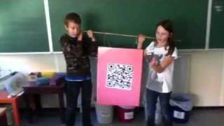 Reclame QR code voor 4 de leerjaar