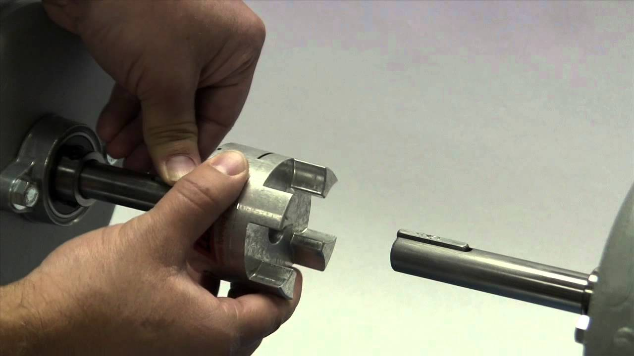 Lovejoy GS Style (Backlash Free) Curved Jaw Coupling Installation Video