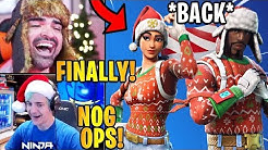 "Streamers React to the *RARE* ""Nog Ops"" Skin & Cand Cane Wrap *BACK* 