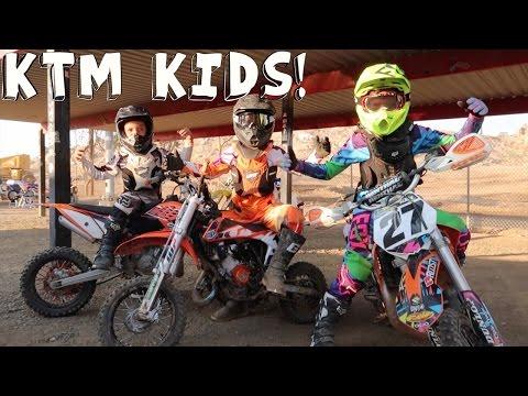 KTM KIDS ON DIRTBIKES!