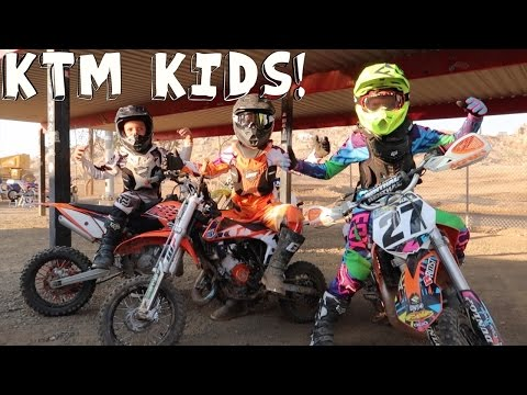 KTM KIDS ON DIRTBIKES!