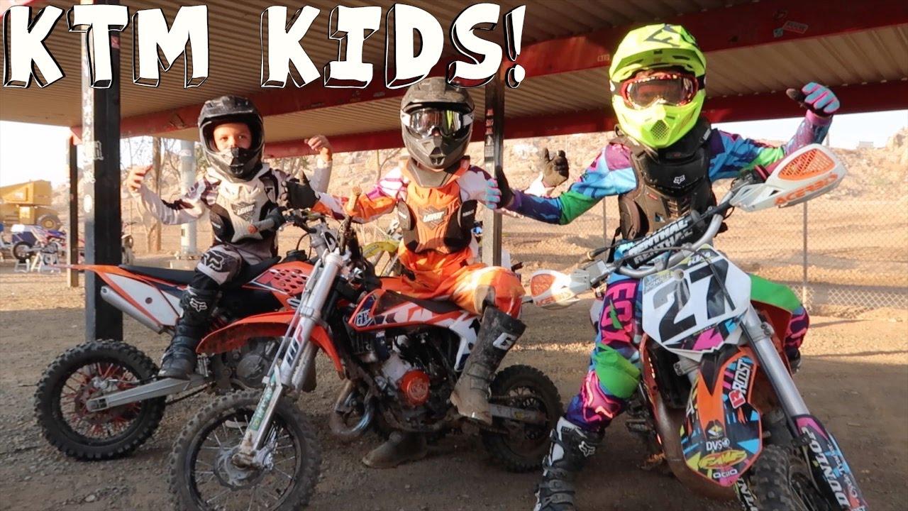 KTM KIDS ON DIRTBIKES! - YouTube