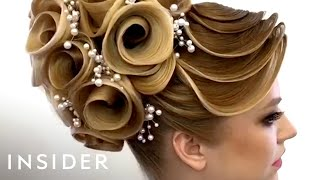 Download This hairstylist does unbelievable designs with hair Mp3 and Videos