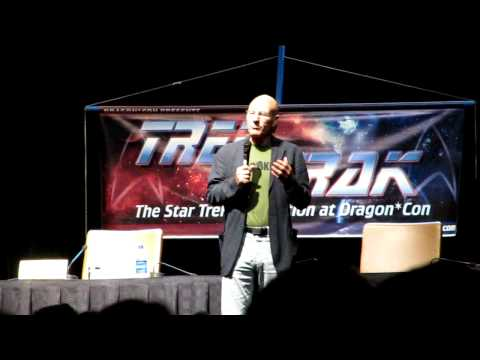 Patrick Stewart talks about feeling up Gates Mcfadden