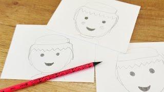 Playmobil Figur malen | Wie male ich einen klassischen Playmobil Kopf | How to zeichnen mit Kindern