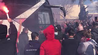 Football - Avant le derby : Nîmes accueilli par ses supporters aux Costières