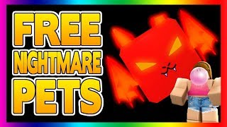 RARE & EPIC NIGHTMARE PET GIVEAWAYS!! | Roblox Bubblegum Simulator