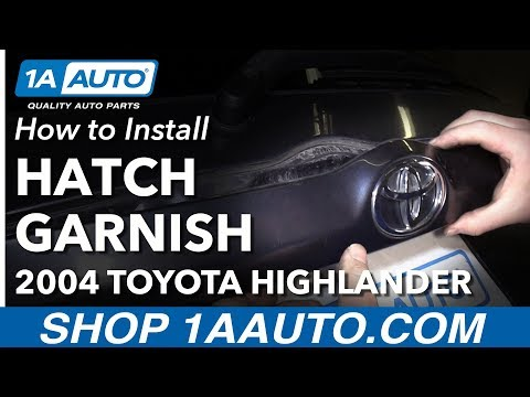 How to Install Replace Rear Hatch Exterior Trim Garnish 2004 Toyota Highlander