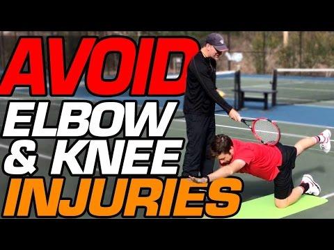 How to Avoid Tennis Injuries Like Tennis Elbow and Knee Tendinitis