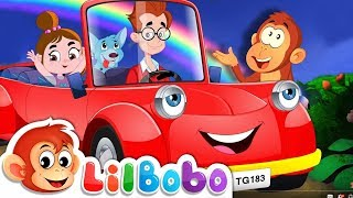 Driving in My Car | Little BoBo Nursery Rhymes and Kids Songs | FlickBox