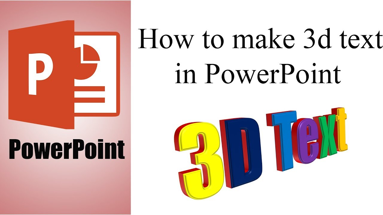 Powerpoint tutorial how to make 3d text in powerpoint youtube powerpoint tutorial how to make 3d text in powerpoint ccuart Gallery