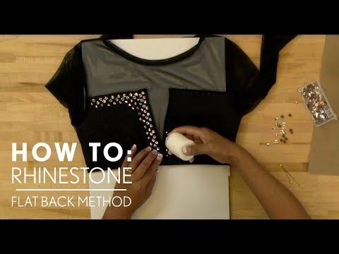 How to Rhinestone a Costume - Flat Back Method