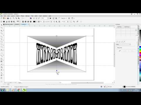 MIrror With Envelope CorelDraw X8 Tutorial (Hindi Urdu)