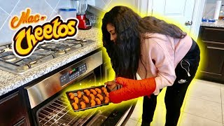WE MADE FLAMIN HOT MAC N' CHEETOS!!! | COOKING WITH JAZZ AND TAE