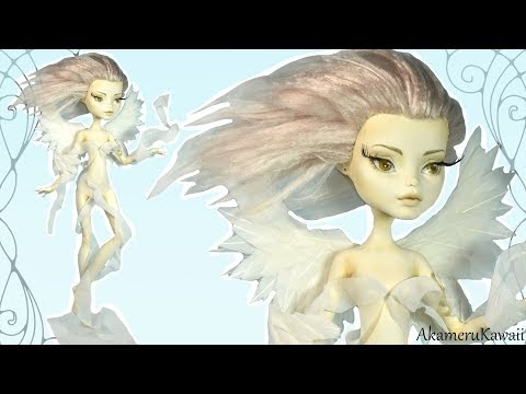 How to: Air nymph / Elemental Fairy Doll - Monster High Figurine Repaint Tutorial