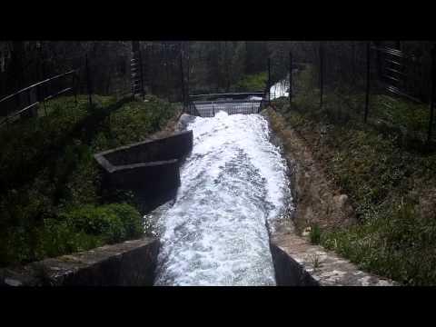 Vidange du canal de l'Ourcq en Action entre Congis et Varredes