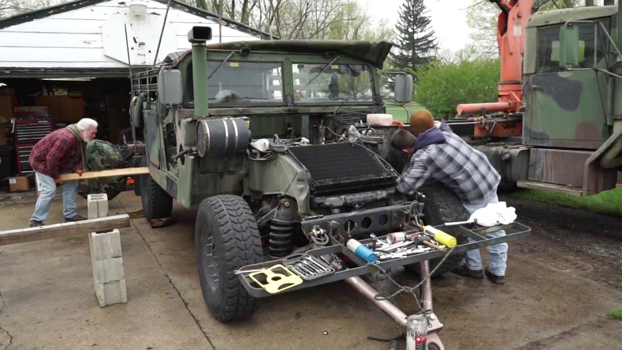 Joel's HMMWV engine swap 4