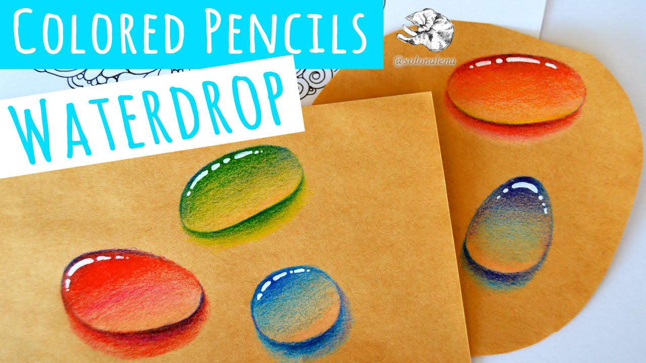 Real time Video How to Draw a Water Droplet with Colored ...