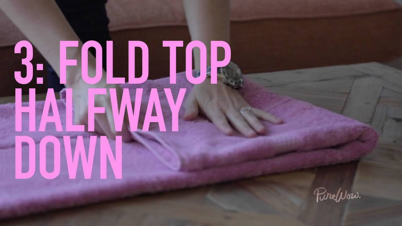 PureWow Presents The Hotel Towel Fold  YouTube