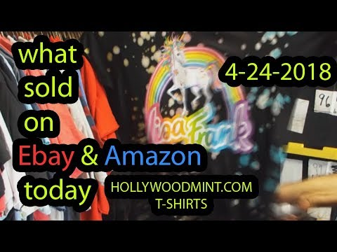 T-shirts That sold today on Ebay and Amazon! steamy foldy edition video 5