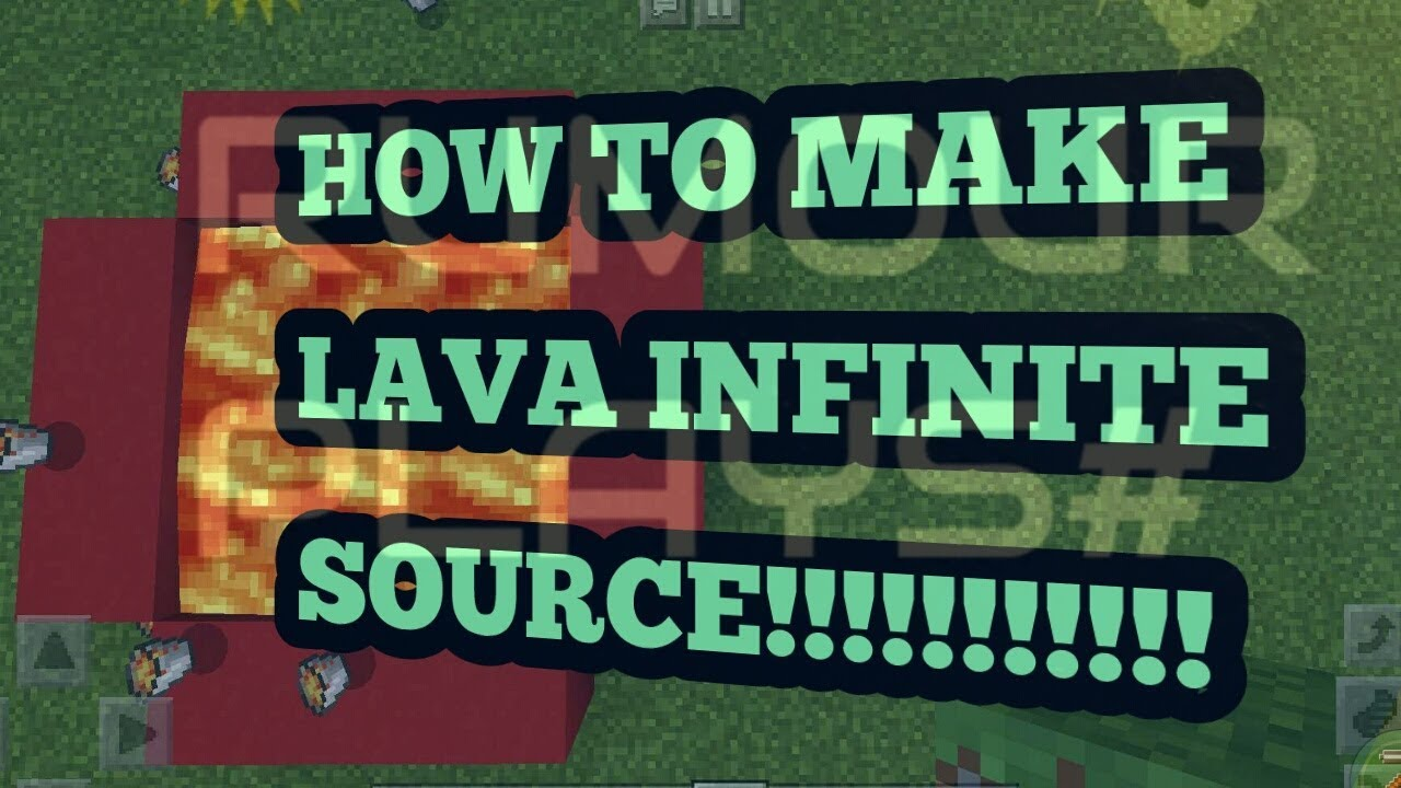 HOW TO MAKE AN INFINITE LAVA SOURCE- MINECRAFT(AN EXPIRIMENT SUCCESSFUL)