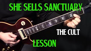 """how to play """"She Sells Sanctuary"""" on guitar by The Cult 