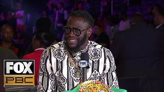 Deontay Wilder reacts to Errol Spence Jr.'s win over Shawn Porter | PBC ON FOX