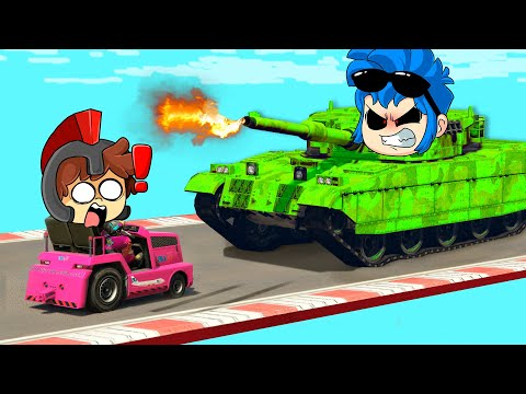 ¡CARRITO de GOLF vs TANQUE! 😱😂 GTA 5 pero LOS COMPAS CHOCAN EN SUPER COCHES (CARRERA) #2 - invictor