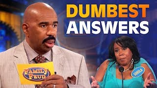 Download DUMBEST ANSWERS EVER! Steve Harvey is SPEECHLESS! | Family Feud Mp3 and Videos