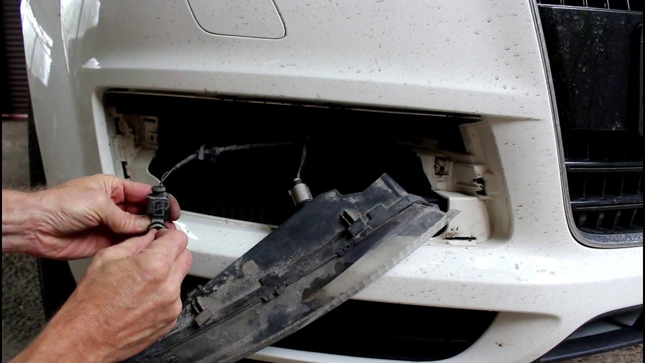 Замена лампочки переднего габарита на АУДИ Q7 2008 AUDI Q7 ...