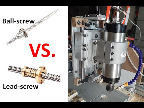 Beefing Up My DIY CNC - Leadscrew VS. Ballscrew - Learned Whole Lot About Aluminum Milling